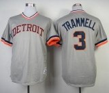 Mitchell and Ness 1984 Detroit Tigers #3 Alan Trammell Grey Throwback Stitched MLB Jersey