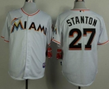 Miami Marlins #27 Giancarlo Stanton White 2012 Home Stitched MLB Jersey