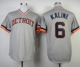 Mitchell And Ness 1984 Detroit Tigers #6 Al Kaline Grey Throwback Stitched MLB Jersey