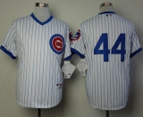 Chicago Cubs #44 Anthony Rizzo White 1988 Turn Back The Clock Stitched MLB Jersey