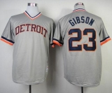 Mitchell And Ness 1984 Detroit Tigers #23 Kirk Gibson Grey Throwback Stitched MLB Jersey
