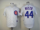 Chicago Cubs #44 Anthony Rizzo White Cool Base Stitched MLB Jersey
