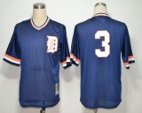 Mitchell and Ness Detroit Tigers #3 Alan Trammell Blue Throwback Stitched MLB Jersey