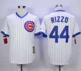Chicago Cubs #44 Anthony Rizzo White Strip Home Cooperstown Stitched MLB Jersey