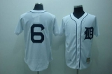 Mitchell and Ness Detroit Tigers #6 Al Kaline Stitched White Throwback MLB Jersey