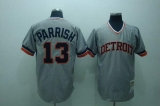 Mitchell and Ness Detroit Tigers #13 Lance Parrish Stitched Grey Throwback MLB Jersey