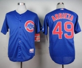 Chicago Cubs #49 Jake Arrieta Blue Alternate Cool Base Stitched MLB Jersey