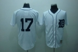 Mitchell and Ness Detroit Tigers #17 Denny McClain Stitched White Throwback MLB Jersey