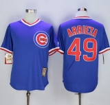 Chicago Cubs #49 Jake Arrieta Blue Cooperstown Stitched MLB Jersey