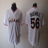 Miami Marlins #56 Mark Buehrle White 2012 Home Stitched MLB Jersey