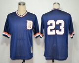 Mitchell and Ness Detroit Tigers #23 Kirk Gibson Blue Throwback Stitched MLB Jersey