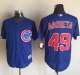 Chicago Cubs #49 Jake Arrieta Blue New Cool Base Stitched MLB Jersey
