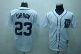 Mitchell and Ness Detroit Tigers #23 Kirk Gibson Stitched White Throwback MLB Jersey