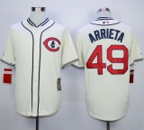 Chicago Cubs #49 Jake Arrieta Cream 1929 Turn Back The Clock Stitched MLB Jersey
