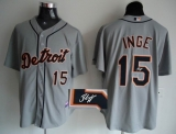 MLB Detroit Tigers #15 Brandon Inge Stitched Grey Autographed Jersey
