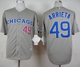 Chicago Cubs #49 Jake Arrieta Grey 1990 Turn Back The Clock Stitched MLB Jersey
