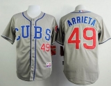 Chicago Cubs #49 Jake Arrieta Grey Alternate Road Cool Base Stitched MLB Jersey