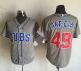 Chicago Cubs #49 Jake Arrieta Grey New Cool Base Stitched MLB Jersey