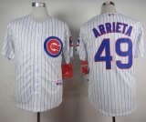 Chicago Cubs #49 Jake Arrieta White Home Cool Base Stitched MLB Jersey