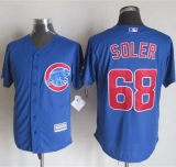 Chicago Cubs #68 Jorge Soler Blue New Cool Base Stitched MLB Jersey