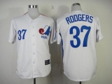 Mitchell And Ness Expos #37 Steve Rodgers White Throwback Stitched MLB Jersey