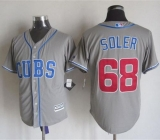 Chicago Cubs #68 Jorge Soler Grey Alternate Road New Cool Base Stitched MLB Jersey