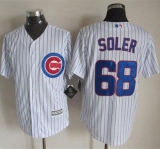 Chicago Cubs #68 Jorge Soler New White Strip Cool Base Stitched MLB Jersey