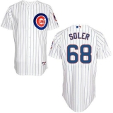 Chicago Cubs #68 Jorge Soler White Home Cool Base Stitched MLB Jersey