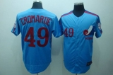 Mitchell and Ness Expos #49 Warren Cromartie Blue Stitched Throwback MLB Jersey