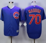 Chicago Cubs #70 Joe Maddon Blue New Cool Base Stitched MLB Jersey