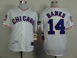 Mitchell And Ness 1968 Chicago Cubs #14 Ernie Banks White Throwback Stitched MLB Jersey