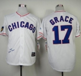 Mitchell And Ness 1968 Chicago Cubs #17 Mark Grace White Throwback Stitched MLB Jersey