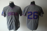 Mitchell And Ness 1968 Chicago Cubs #26 Billy Williams Grey Stitched Throwback MLB Jersey