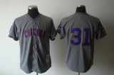 Mitchell And Ness 1968 Chicago Cubs #31 Fergie Jenkins Grey Stitched Throwback MLB Jersey