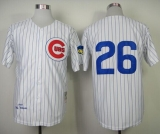 Mitchell and Ness 1969 Chicago Cubs #26 Billy Williams White Throwback Stitched MLB Jersey