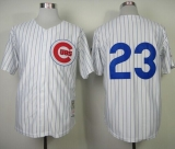 Mitchell and Ness 1984 Chicago Cubs #23 Ryne Sandberg White Throwback Stitched MLB Jersey