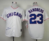 Mitchell And Ness 1988 Chicago Cubs #23 Ryne Sandberg White Throwback Stitched MLB Jersey