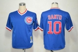 Mitchell and Ness Chicago Cubs #10 Ron Santo Stitched Blue Throwback MLB Jersey
