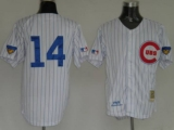 Mitchell and Ness Chicago Cubs #14 Ernie Banks Stitched White Throwback MLB Jersey