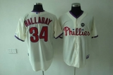 Philadelphia Phillies #34 Roy Halladay Stitched Cream MLB Jersey