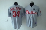 Philadelphia Phillies #34 Roy Halladay Stitched Grey MLB Jersey