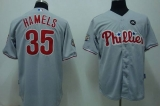 Philadelphia Phillies #35 Colbert Hamels Stitched Grey MLB Jersey