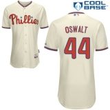 Philadelphia Phillies #44 Oswalt Stitched Cream MLB Jersey