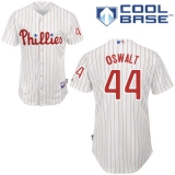 Philadelphia Phillies #44 Oswalt Stitched White Red Strip MLB Jersey
