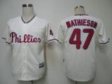 Philadelphia Phillies #47 Scott Mathieson Cream Cool Base Stitched MLB Jersey