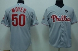 Philadelphia Phillies #50 Jamie Moyer Stitched Grey MLB Jersey