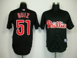 Philadelphia Phillies #51 Carlos Ruiz Black Stitched MLB Jersey