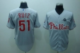 Philadelphia Phillies #51 Carlos Ruiz Stitched Grey MLB Jersey