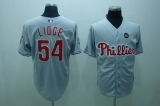 Philadelphia Phillies #54 Brad Lidge Stitched Grey MLB Jersey