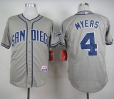 San Diego Padres #4 Wil Myers Grey Cool Base Stitched MLB Jersey